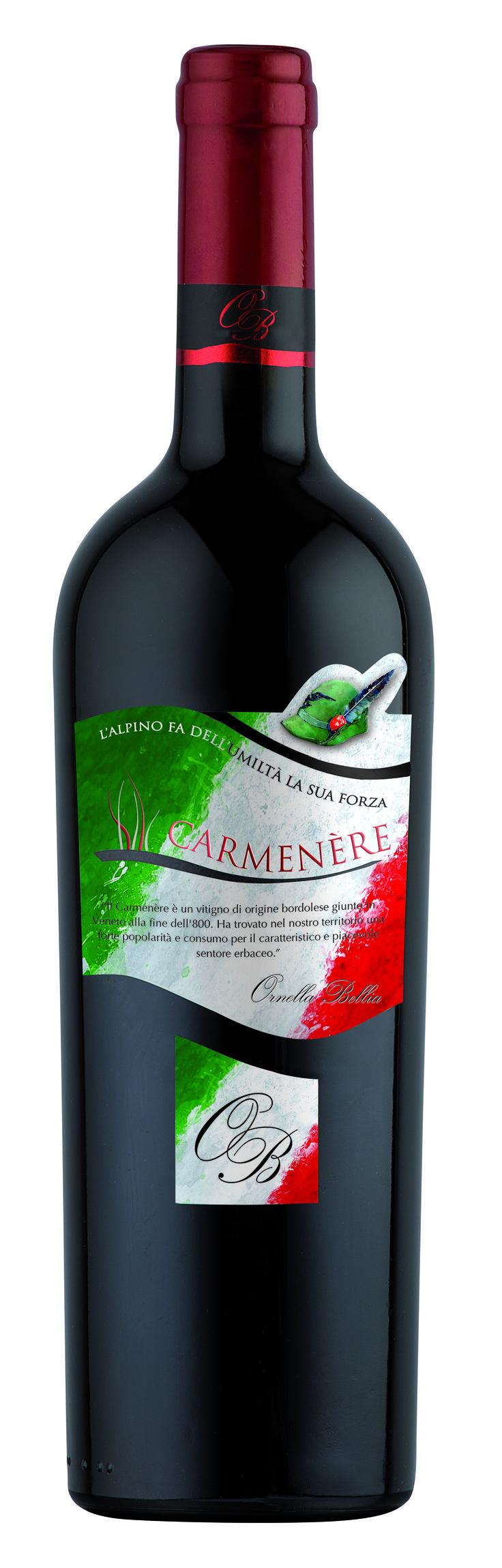 Carmenere - Ornella Bellia / Edizione speciale per la 90° Adunata Nazionale degli Alpini 2017 #adunataalpini #winelabel #winedesign #italianwine #Francescon #Collodi #F&C