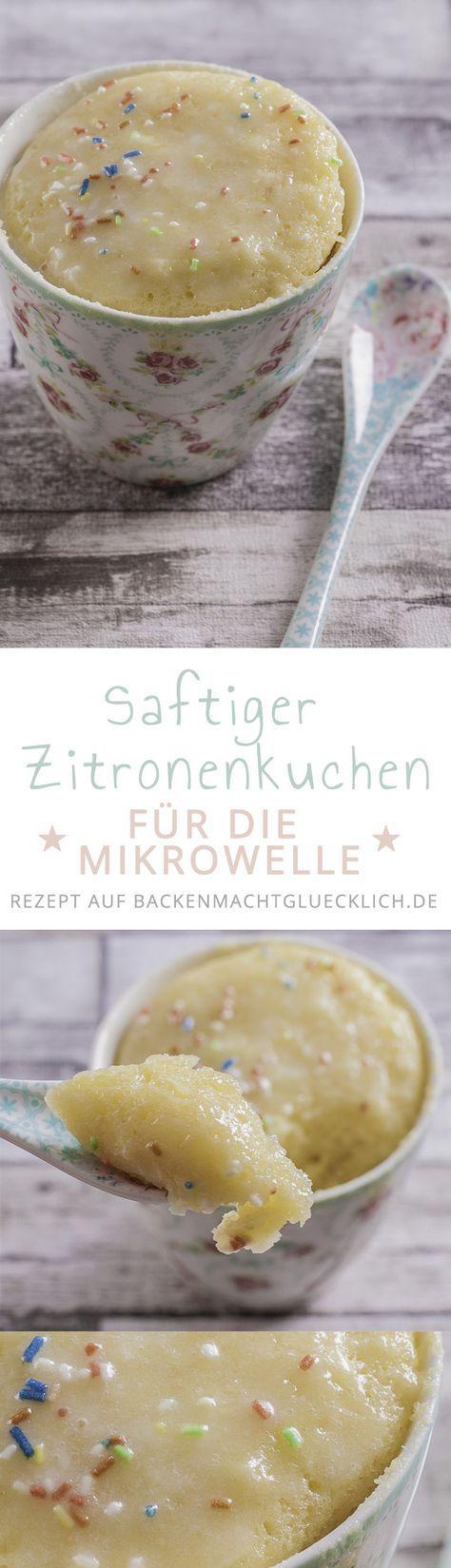 Schnelles und leckeres Tassenkuchen-Rezept mit Zitrone. In 3 Minuten fertig!