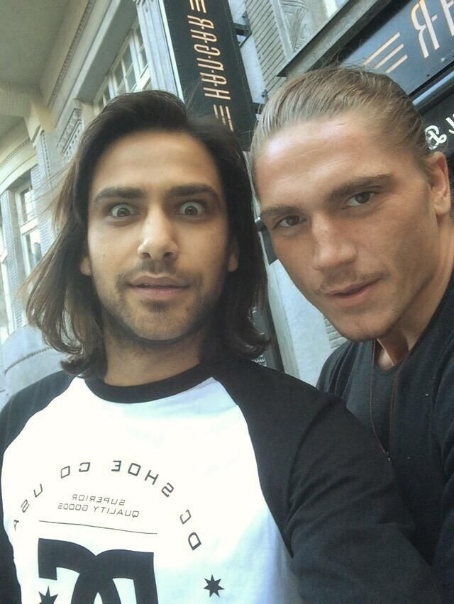 Luke Pasqualino &  Duran Fulton Brown (who has landed a role in series III of The Musketeers)