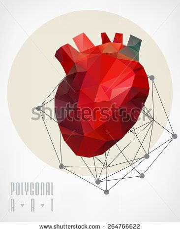 Abstract polygonal heart. Geometric hipster illustration. low poly illustration