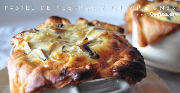 #Receta: pastel de puerros y champiñones http://www.cocina.es/2015/05/21/receta-pastel-de-puerros-y-champinones/