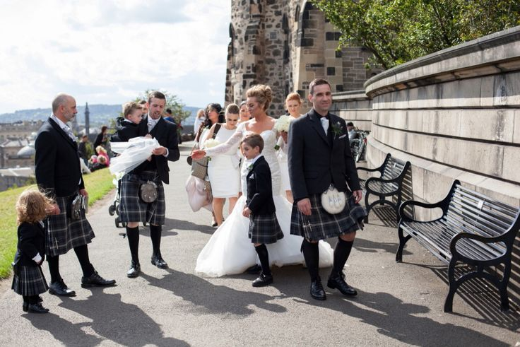 Beautiful wedding moment, Carlton hill Edinburgh