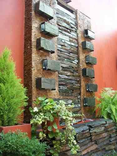 78 best images about ambientacion exterior on pinterest gardens palmas and garden fountains - Muro jardin ...