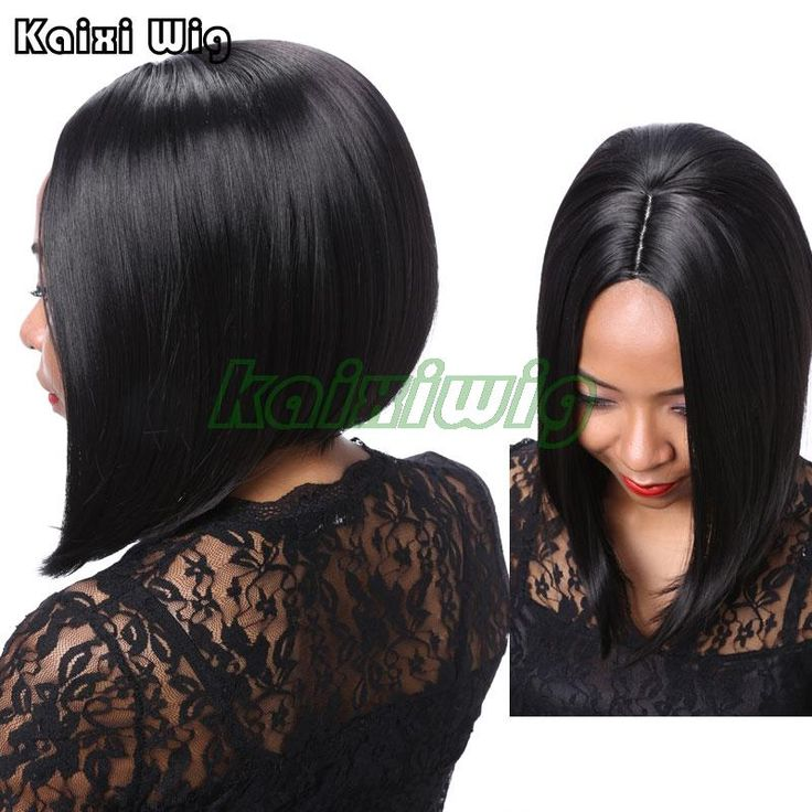 Short Bob Hairstyles Natural Black Wig Cheap Synthetic Wigs For Black Women African American Short Wigs Short Wig With Hair Part