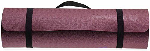 Harbinger Recyclable Foam Eco Fit Exercise Mat 38Inch Wine *** You can get additional details at the image link.