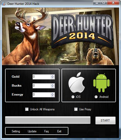 Hacking Tool, iOS/Android » Deer Hunter 2014 Hack Tool Android/iOS