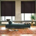iFit Cut-to-Width Brown Cordless Light Filtering Acrylic Coated Polyester Fabric Roller Shade - 66.5 in. W x 73 in. L