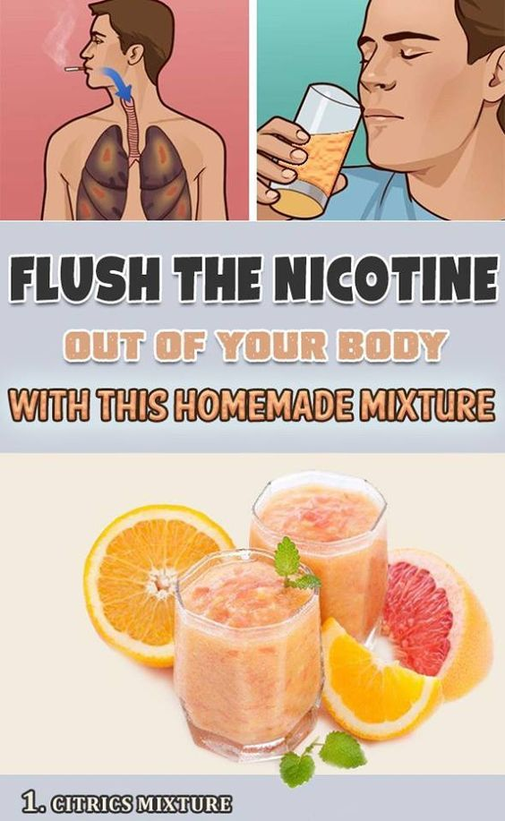 Flush the Nicotine out of Your Body with this Homemade Mixture.??>>...? .