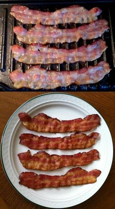 Easy and perfect bacon on your George Foreman Grill. No mess, no fuss, no curling - just the best damn perfect bacon you've ever made!