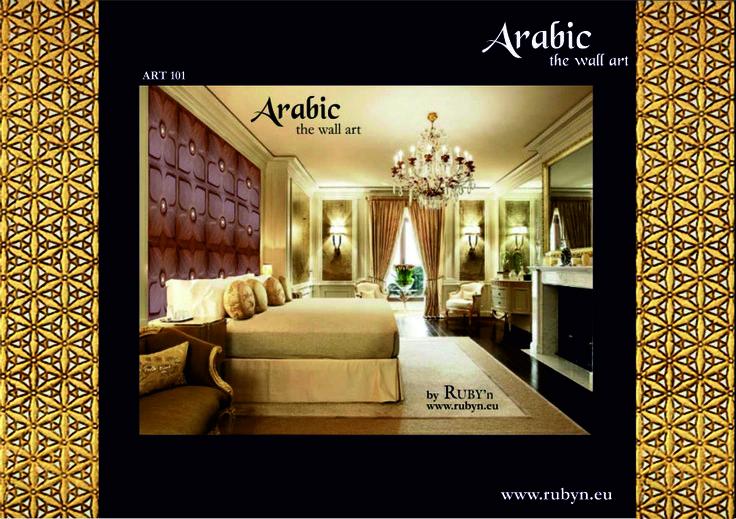 ARABIC ART 100 3D wall panels Luxury style in the bedroom http://www.rubyn.eu/arabic_wall_art.html