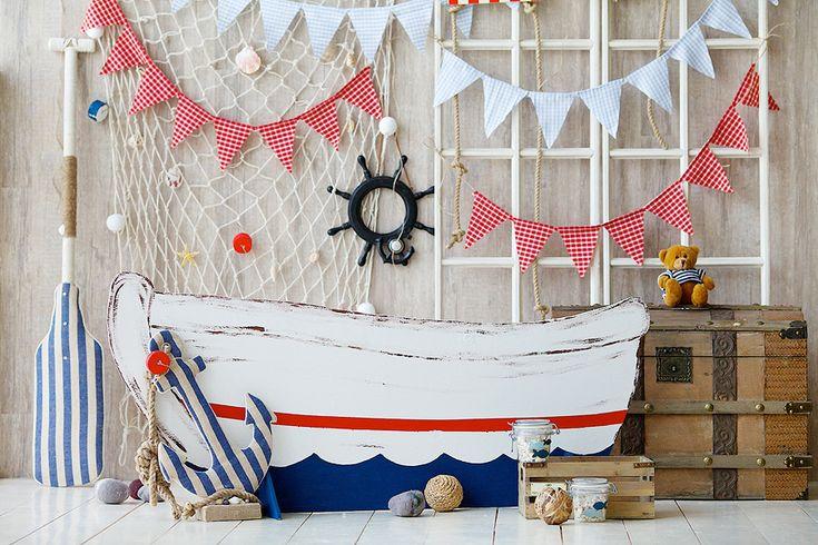 Детская фотозона в морском стиле