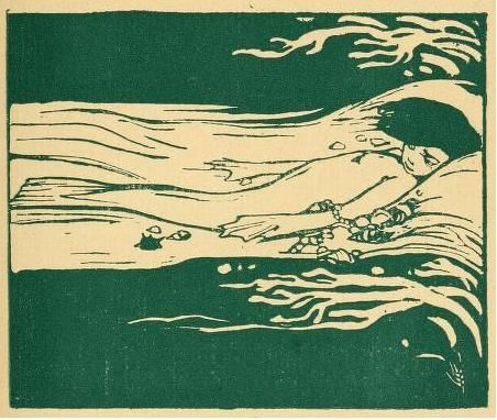 Duilio Cambellotti La siepe di smeraldo (The hedge of emerald) (1920) il sirenotto