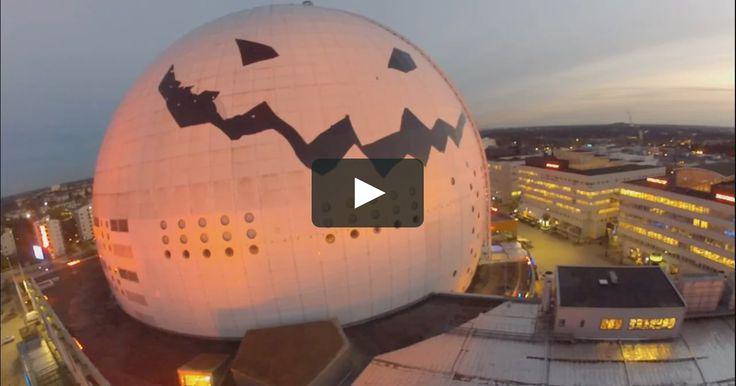 LARGEST PUMPKIN IN THE WORLD! Stockholm Globen makeover design for Halloween 2014. Made for the SHOCKHOLM Halloween Festival.