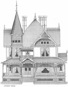 1000 images about vintage home plans on pinterest house for Queen anne cottage house plans