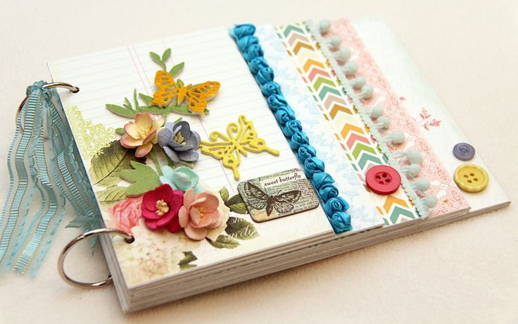 "Chipboard Mini Album - Webster's Pages ""Postcards In Paris"" papers... by IRIS BABAO UY"