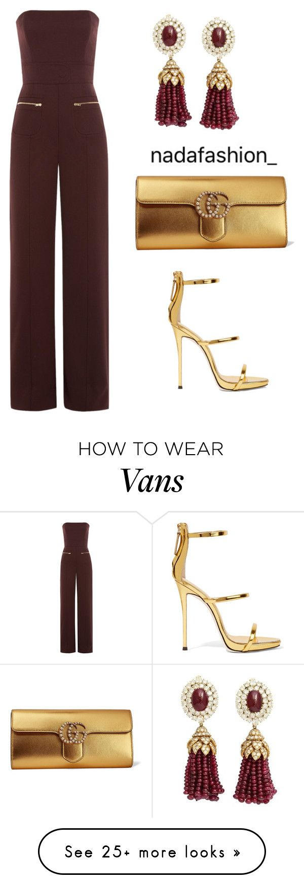 """""""Untitled #204"""" by nada-fashion on Polyvore featuring Maison Margiela, Van Cleef & Arpels, Giuseppe Zanotti and Gucci"""