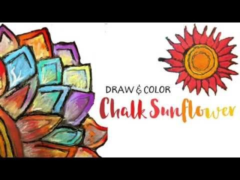 Chalk Flowers Art Project – 2 Ways | Deep Space Sparkle