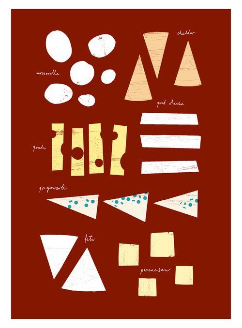 "Cheese Chart   20""x27"" archival fine art giclée print"
