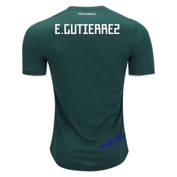 Erick Gutierrez 2018 FIFA World Cup Mexico Home Soccer Jersey