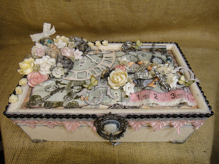 Shabby chic altered box, le romantique