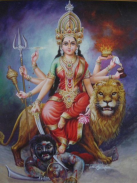 Ma Durga - Mahishasurmardini by simon_ram, via Flickr