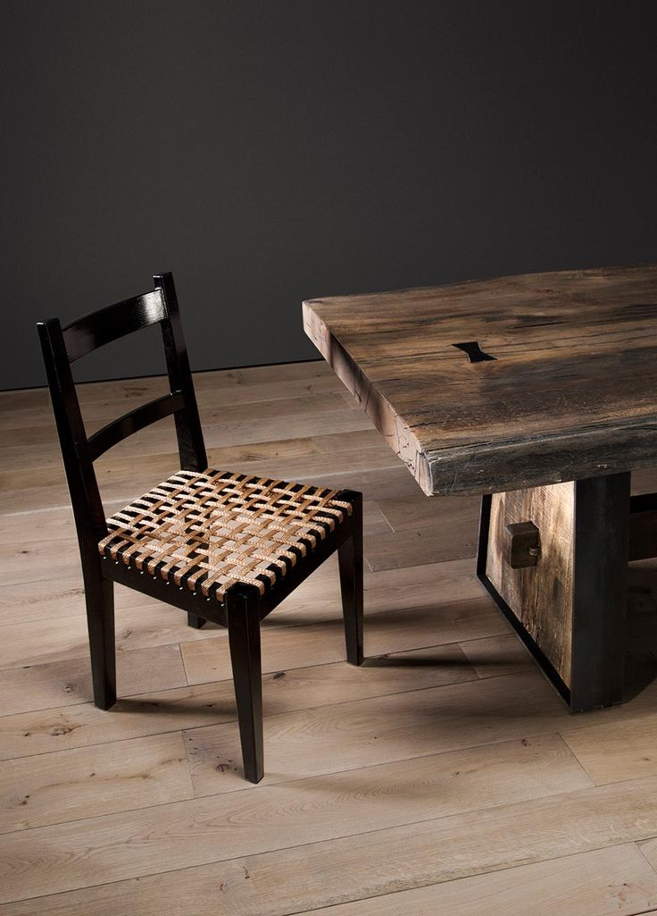 High gloss black Karoo Chair with brass mesh