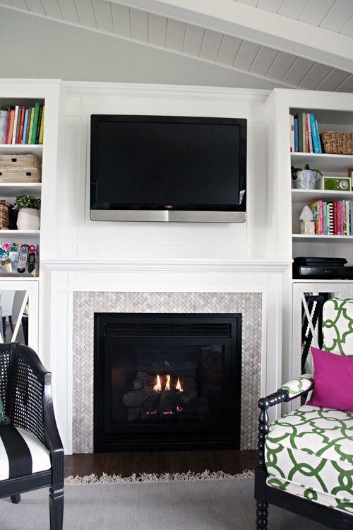 Die besten 25+ Kamin Fernsehtisch Ideen auf Pinterest Kamin tv - wohnwand mit kamin