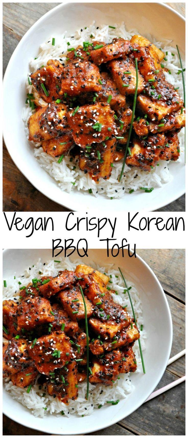 Vegan Crispy Korean Bbq Tofu Rabbit And Wolves Recipe Whole Food Recipes Bbq Tofu Vegetarian Vegan Recipes