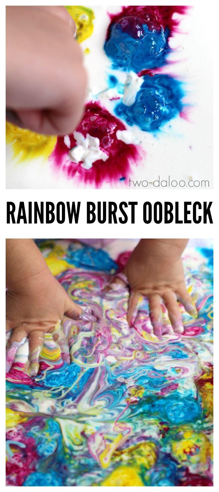 Rainbow Burst Oobleck at Twodaloo