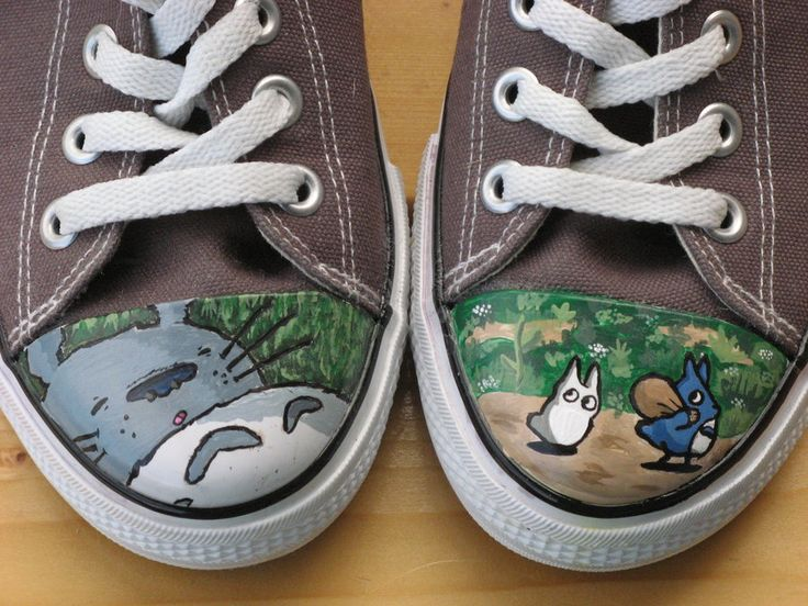 Totoro shoes by ~kayleigh29 on deviantART