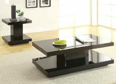 Koren BLACK Coffee Table 5mm Tempered Printed Glass