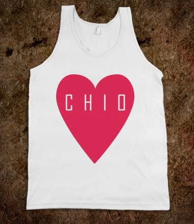 Chi Omega Frat Tanks - Chi Omega Heart. Chi Omega Sorority Shirts. CLICK HERE to purchase :)