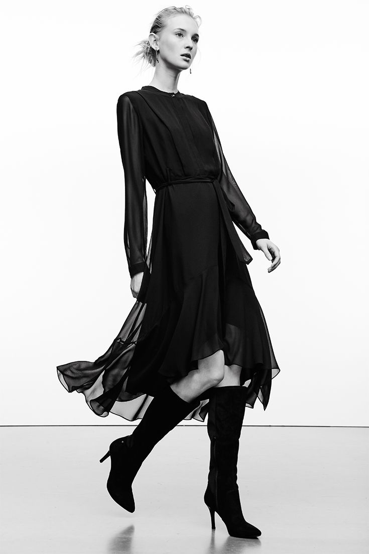 The Sheer Sleeves Add A Layer Of Intrigue To This Bewitching Lbd While Chiffon Overlay Gives Sense Fluidity And Movement Along High L