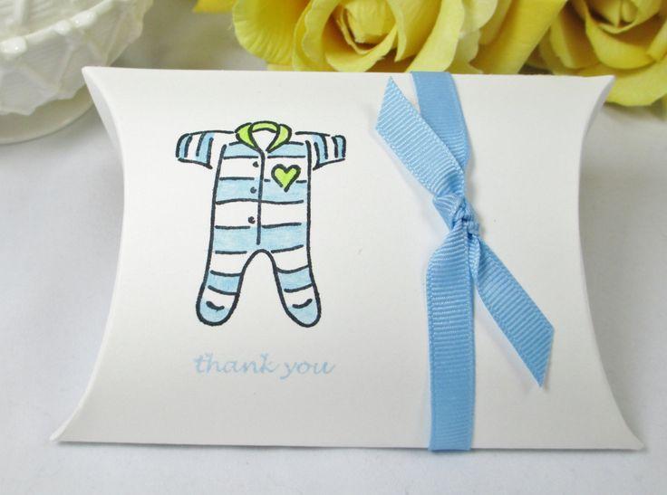Baby Boy Shower Pillow Box, Baby Boy Favor Box, Baby Blue Favor Pillow Box, New…