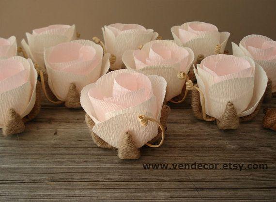 Rustico Chic Wedding decorazione 10 fiori di tavolo di di VENDecor
