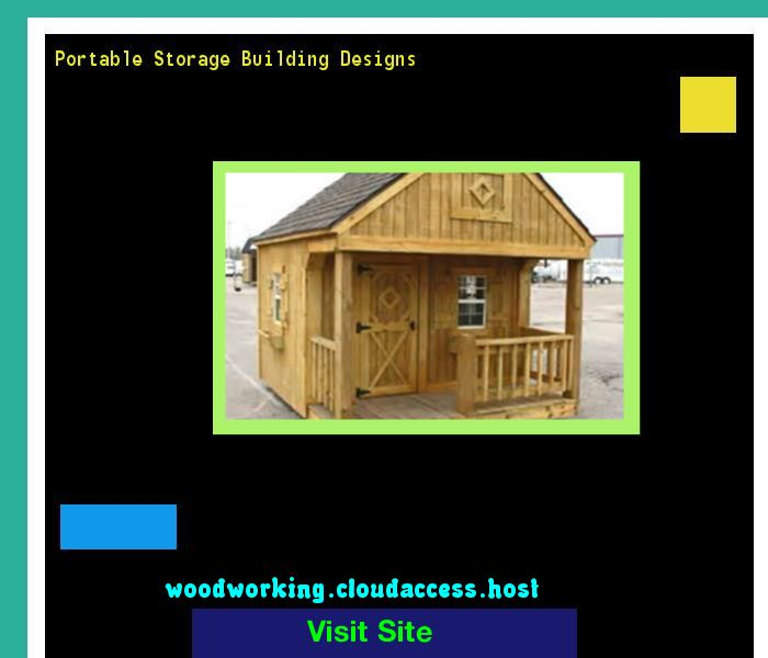Portable Storage Building Designs 071533 - Woodworking Plans and Projects!