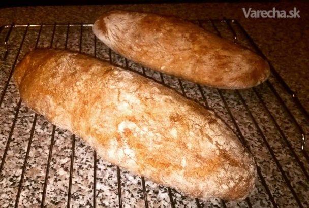 Kvásková drevorubačská bageta (fotorecept) - Recept