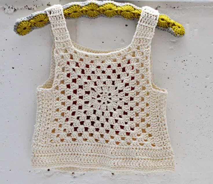Maize Hutton - Crocheted top