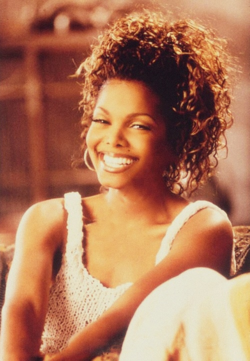 Janet Jackson from the 1993 music video, 'Again'.