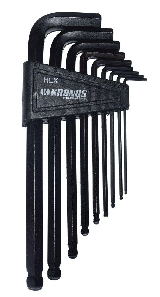 KRONUS Set chei imbus cu bila BALL-HEX-L 1.5-10 mm 72883 @ ToolsZone.ro