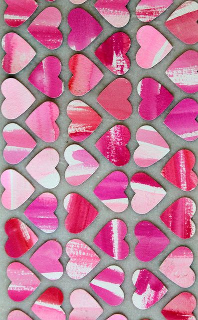 Watercolor Hearts for Valentine's Day by most lovely things, via Flickr
