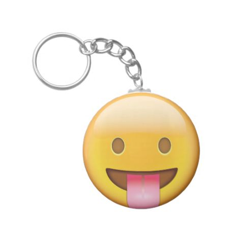 Face With Stuck Out Tongue Emoji Key Chains