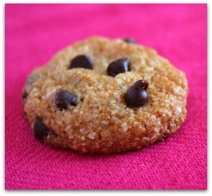 Almond choc chip cookies 2pts for 1 cookie