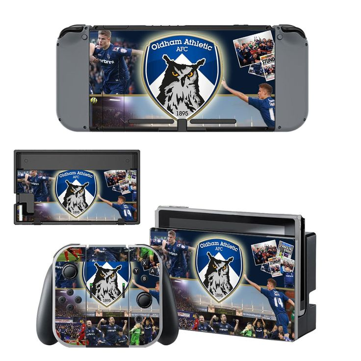 Oldham athletic AFC design vinyl decal for Nintendo switch console sticker skin