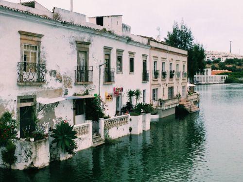 Riverside homes in Tavira, Portugal