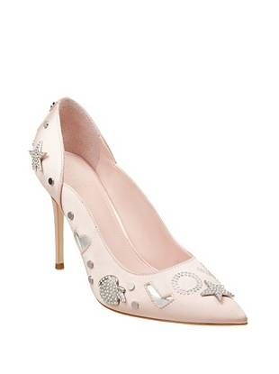 Belle Embellished Satin Pumps at Guess blush pink wedding shoes love stars  hearts  85f862a107