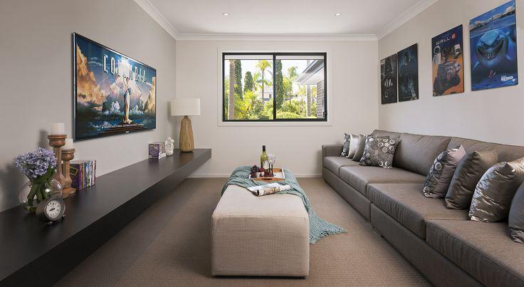 WIllow #media #theatre #house #newhome #newlivinghomes  www.newlivinghomes.com.au