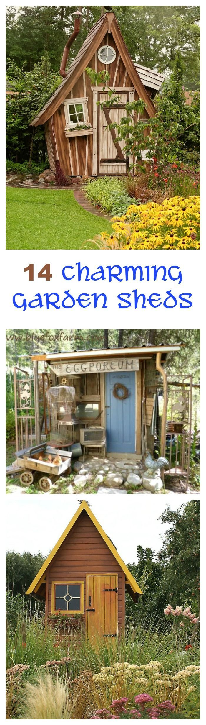 These 14 charming garden sheds will give you lots of inspiration for a place to keep your garden tools and gadgets.