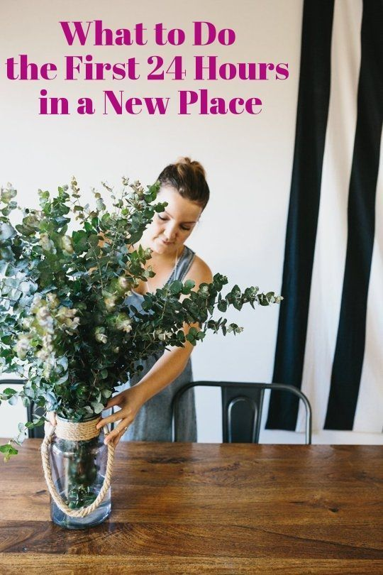 What to Do the First 24 Hours in a New Place via Apartment Therapy