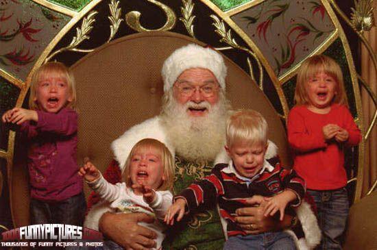 At least Santa looks happy.